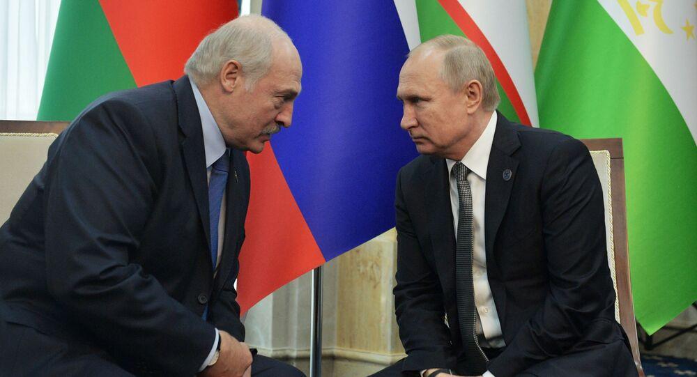 Putin e Lukashenko (foto d'archivio)