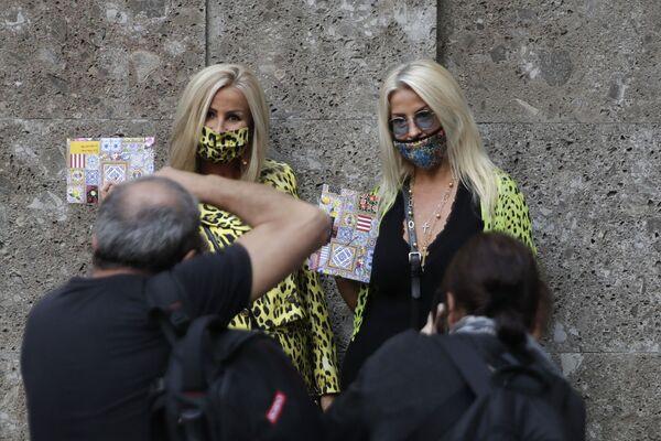 Degli ospiti della Settimana della Moda Milano - Sputnik Italia