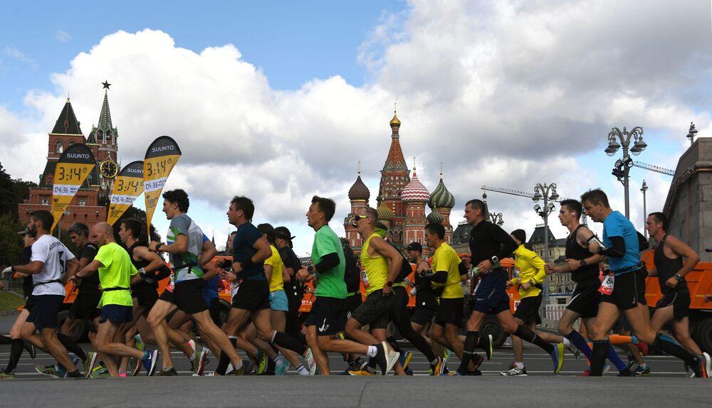 I partecipanti della maratona di Mosca - 2020