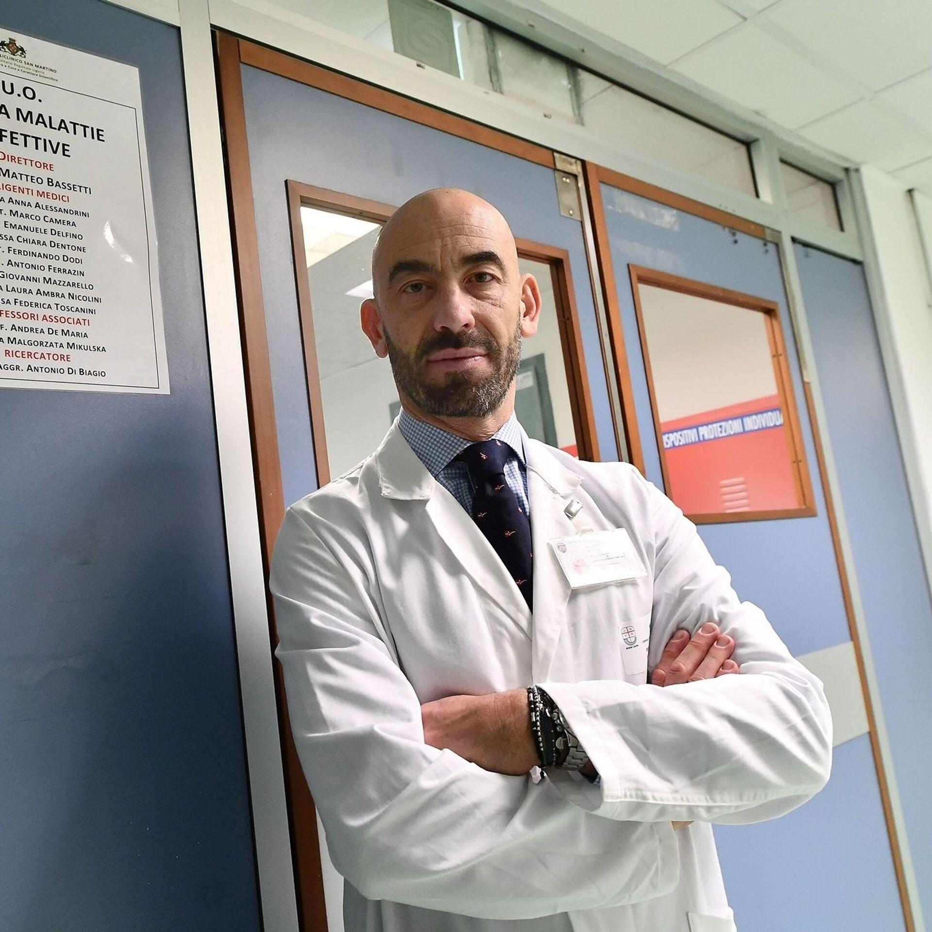 Matteo Bassetti, infettivologo, primario dell'ospedale San Martino di Genova - Sputnik Italia, 1920, 18.05.2021