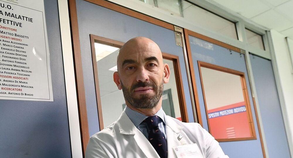 Matteo Bassetti, infettivologo, primario dell'ospedale San Martino di Genova