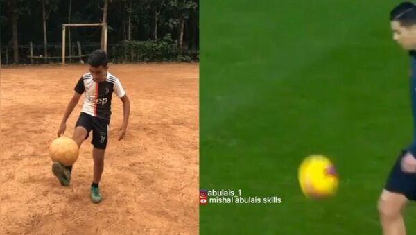 Indian Kid Nails Cristiano Ronaldo's Freestyle Skills to Perfection - Sputnik Italia