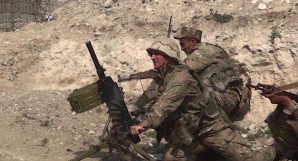 Soldati azeri Nagorno-Karabakh