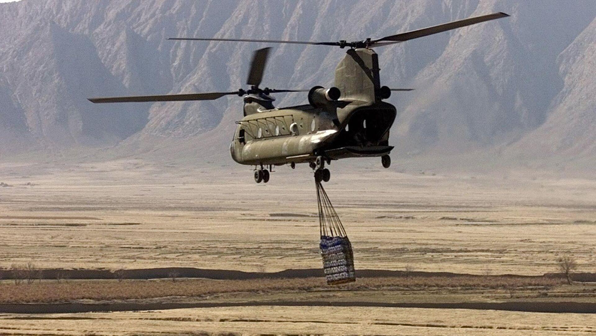 Elicottero americano CH-47 Chinook in Afghanistan (foto d'archivio) - Sputnik Italia, 1920, 31.03.2021