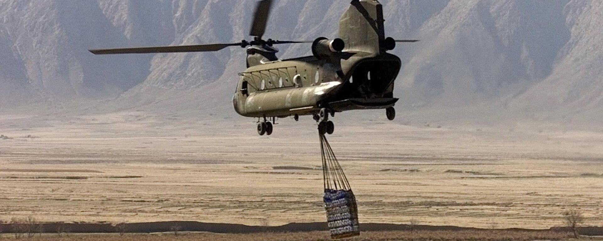 Elicottero americano CH-47 Chinook in Afghanistan (foto d'archivio) - Sputnik Italia, 1920, 13.06.2021