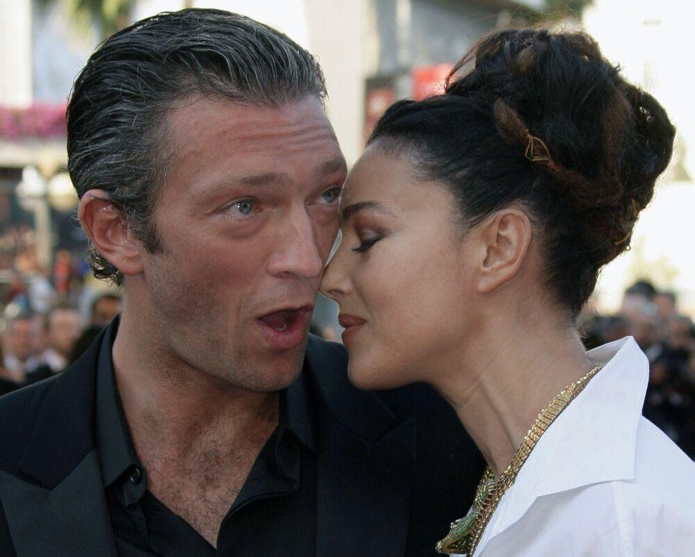 Attori Vincent Cassel e Monica Bellucci al Festival di Cannes