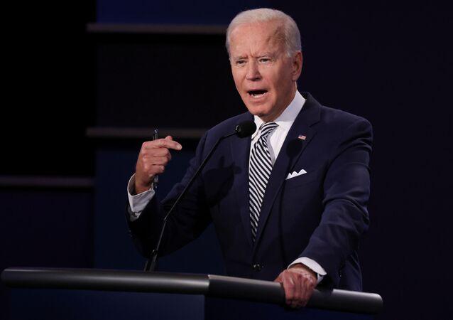 Joe Biden al primo confronto televisivo tra i due candidati che si contenderanno la Casa Bianca il prossimo 3 novembre.