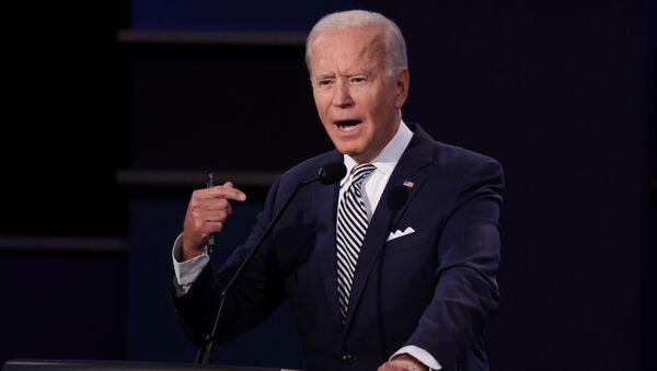 Joe Biden al primo confronto televisivo tra i due candidati che si contenderanno la Casa Bianca il prossimo 3 novembre. - Sputnik Italia