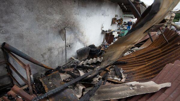 Le distruzioni dopo i bombardamenti nella zona di conflitto di Nagorno-Karabakh   - Sputnik Italia