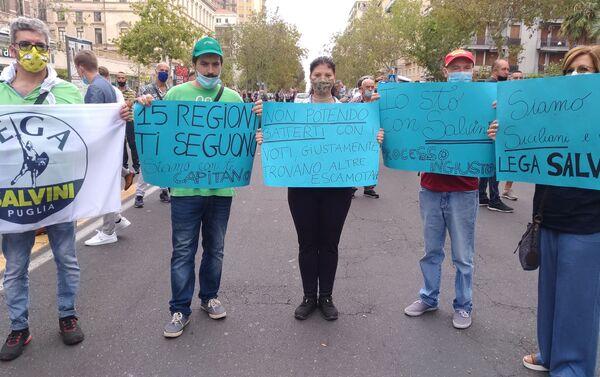 Catania, manifestazione pro Salvini - Sputnik Italia