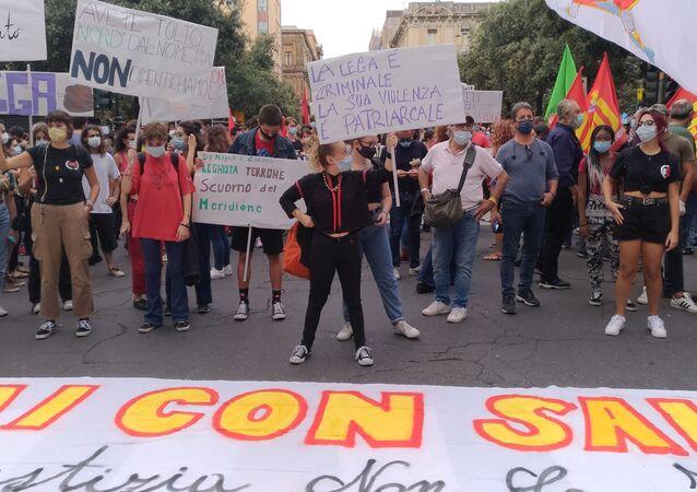 Catania, manifestazione contro Salvini