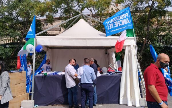 La kermesse della Lega a Catania - Sputnik Italia