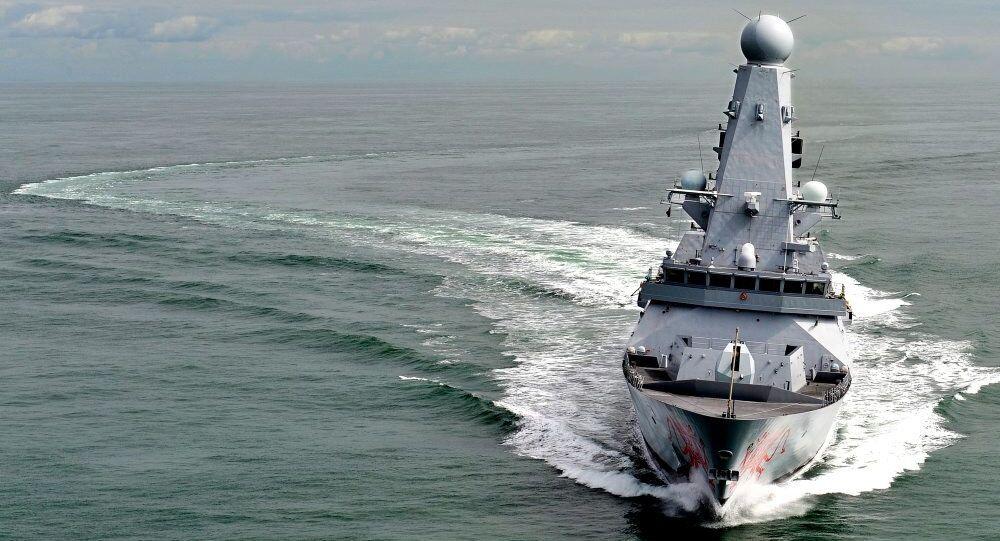 Nave britannica HMS Dragon (foto d'archivio)