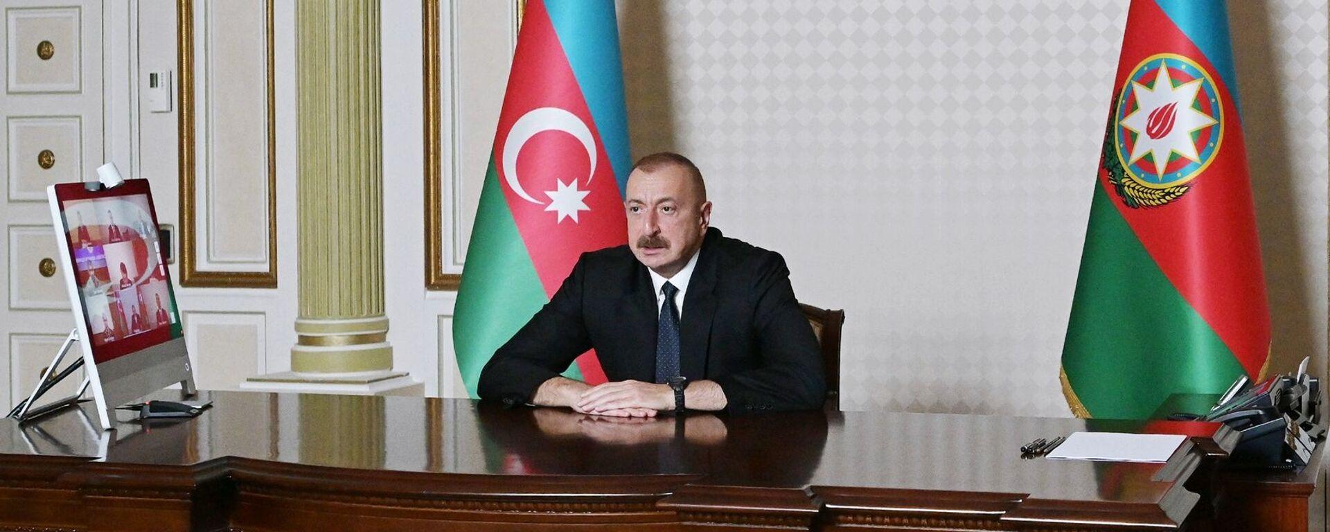Il presidente azero Ilham Aliyev - Sputnik Italia, 1920, 07.01.2021