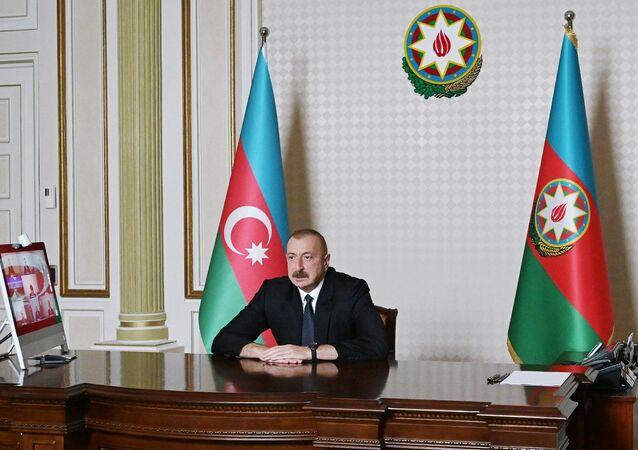 Il presidente azero Ilham Aliyev