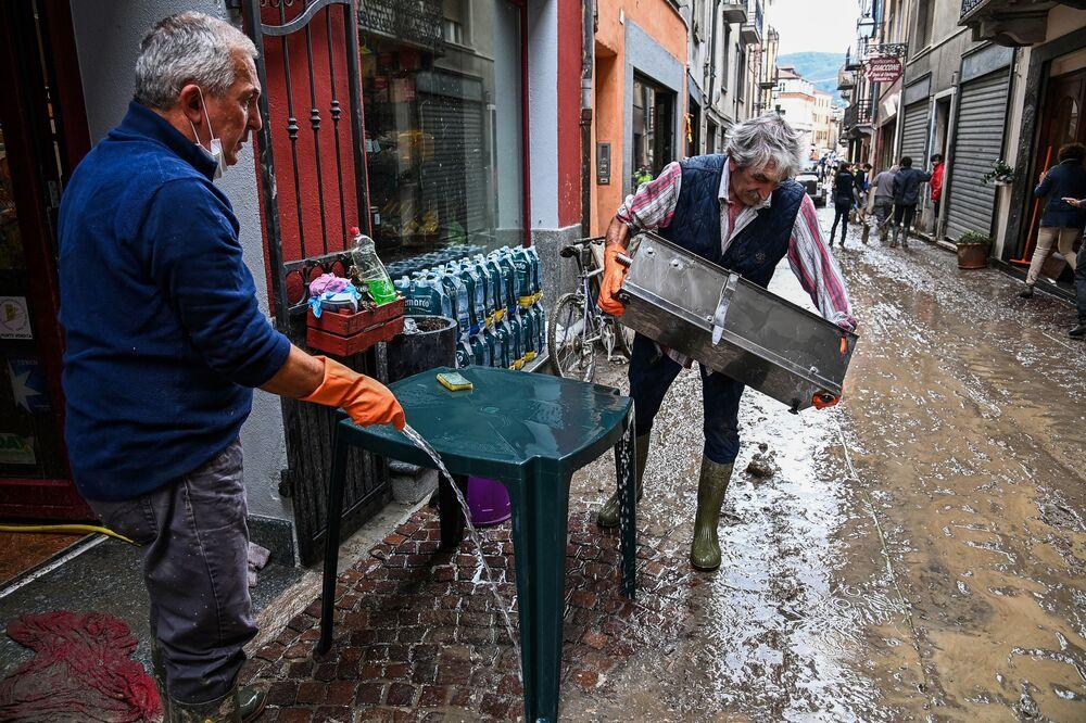 Conseguenze della tempesta a Garessio, Italia