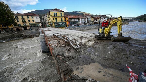 Danni dopo l'alluvione a Garessio, Italia - Sputnik Italia