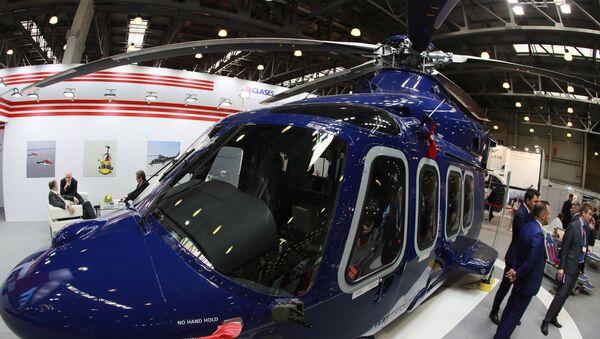 Un elicottero AW 139 della Leonardo Helicopters alla fiera HeliRussia - 2019 - Sputnik Italia