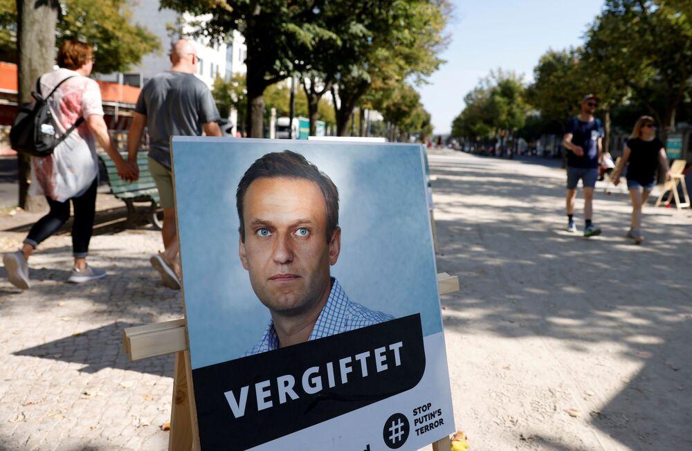 Ritratto di Alexey Navalny a Berlino