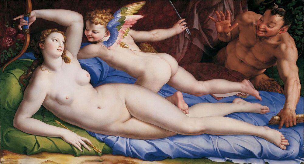 Venere, Cupido e il Satiro - Agnolo Bronzino, XVI sec.