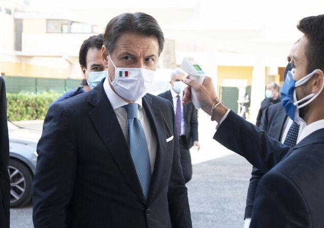 Roma, 06/10/2020 - Il Presidente del Consiglio, Giuseppe Conte, all'Assemblea nazionale di Confcooperative presso l'Auditorium del Massimo.
