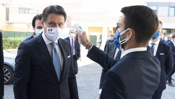 Roma, 06/10/2020 - Il Presidente del Consiglio, Giuseppe Conte, all'Assemblea nazionale di Confcooperative presso l'Auditorium del Massimo. - Sputnik Italia
