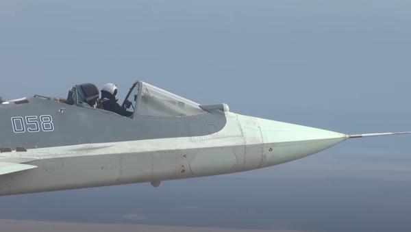 Sukhoi Su-57 senza cupolino - Sputnik Italia