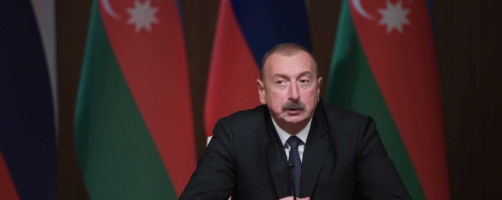Il presidente azerbaigiano Ilham Aliyev - Sputnik Italia, 1920, 13.04.2021