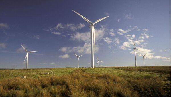 Wind farm, Dun Law, Scottish borders - Sputnik Italia