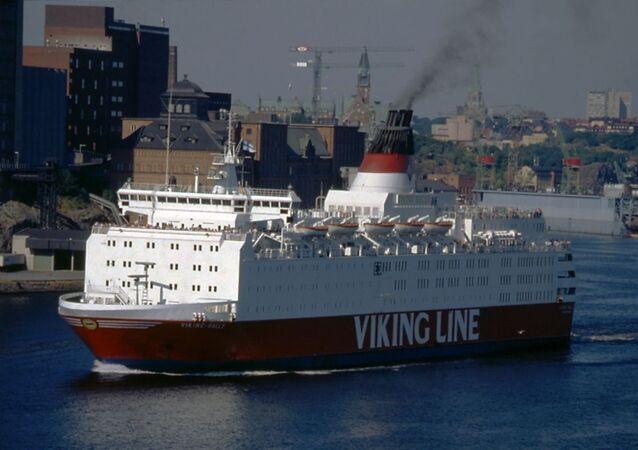 Il traghetto Estonia all'epoca quando si chiamava Viking Sally