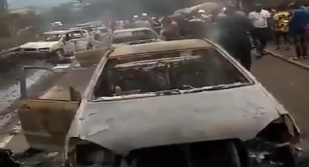 Autocisterna esplosa in Nigeria