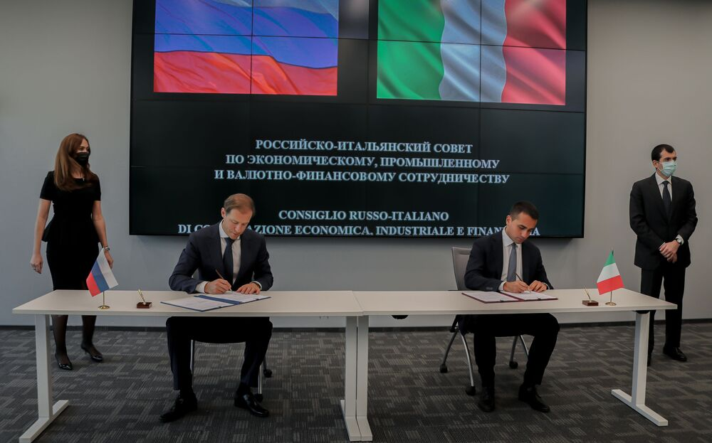 Il ministro degli affari esteri italiano Luigi Di Maio in missione a Mosca