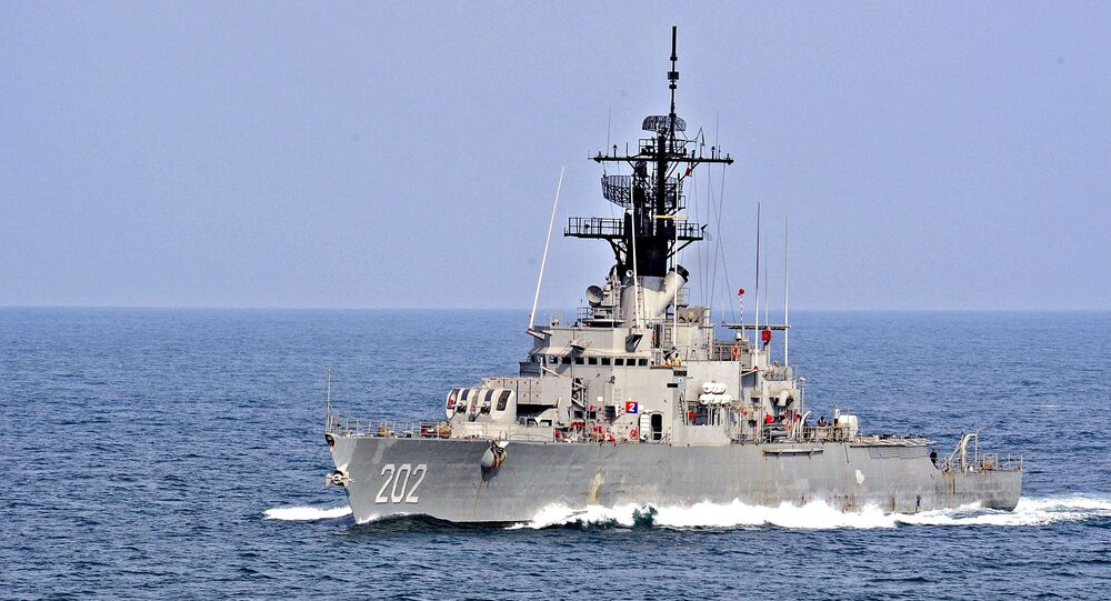 La fregata ARM Galeana della marina messicana