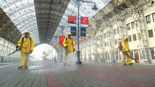 Дезинфекция Киевского вокзала - Sputnik Italia