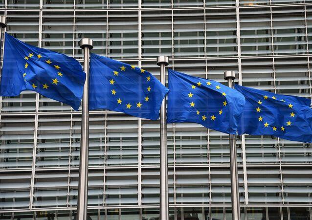 Bandiere dell'UE a Bruxelles