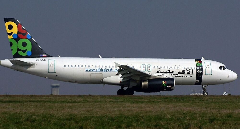 Un aereo della compagnia Afriqiyah Airways