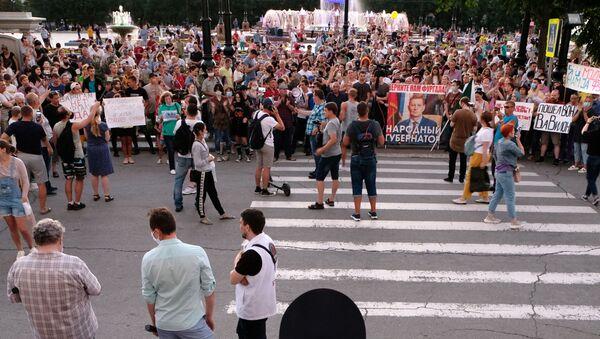 Manifestazione non autorizzata a Khabarovsk - Sputnik Italia