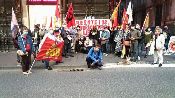 Pescatori e sindacalisti si mobilitano nelle piazze siciliane per chiedere il rilascio immediato dei 18 marittimi fermati da 45 giorni a Bengasi - Sputnik Italia