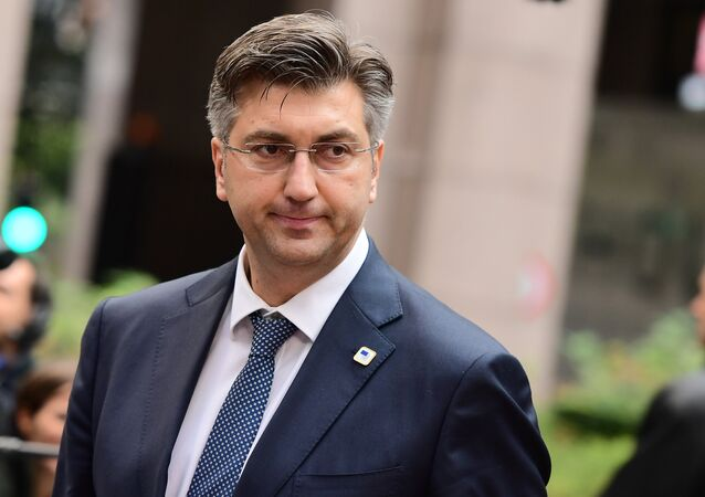 Primo ministro croato Andrej Plenkovic