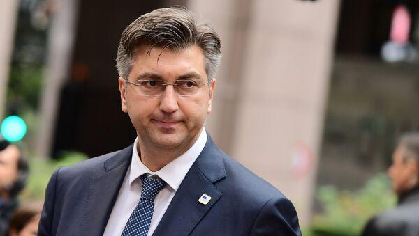 Croatia's Prime Minister Andrej Plenkovic - Sputnik Italia