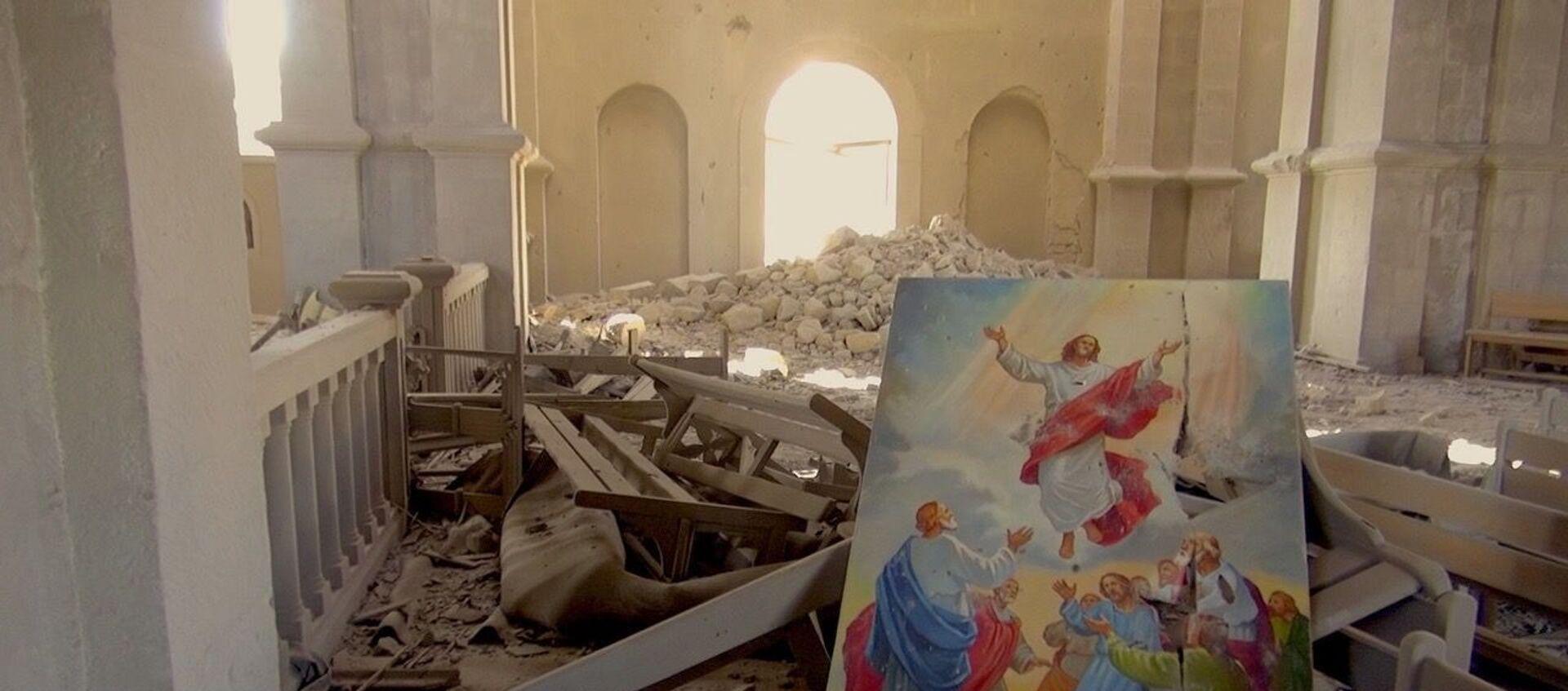 I danni alla cattedrale di Sushi - Sputnik Italia, 1920, 19.10.2020
