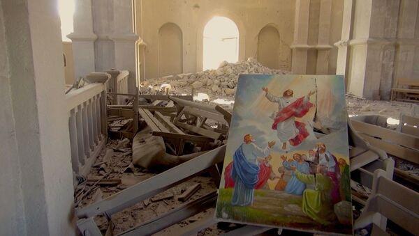 I danni alla cattedrale di Sushi - Sputnik Italia