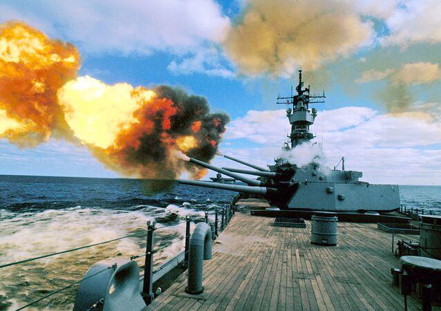 Cannoni Usa (foto d'archivio)