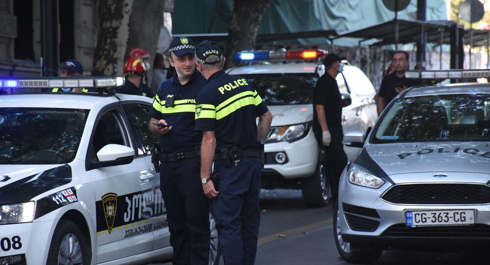 Agenti di polizia a Tblisi, Georgia