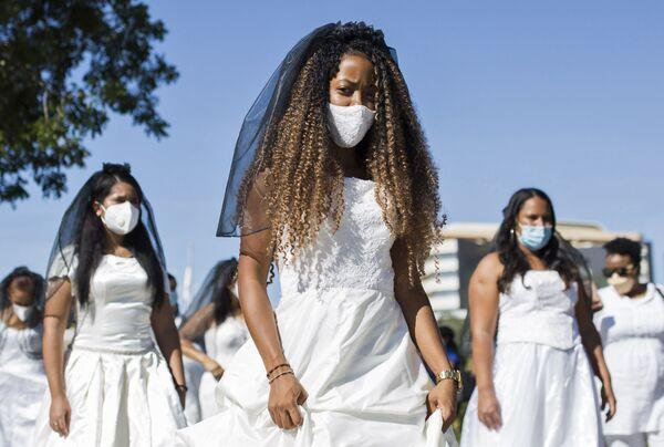 La marcia delle spose a Santo Domingo, Repubblica Dominicana.  - Sputnik Italia