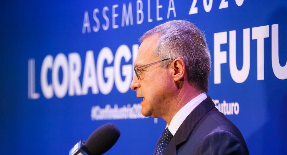 Presidente di Confindustria Carlo Bonomi