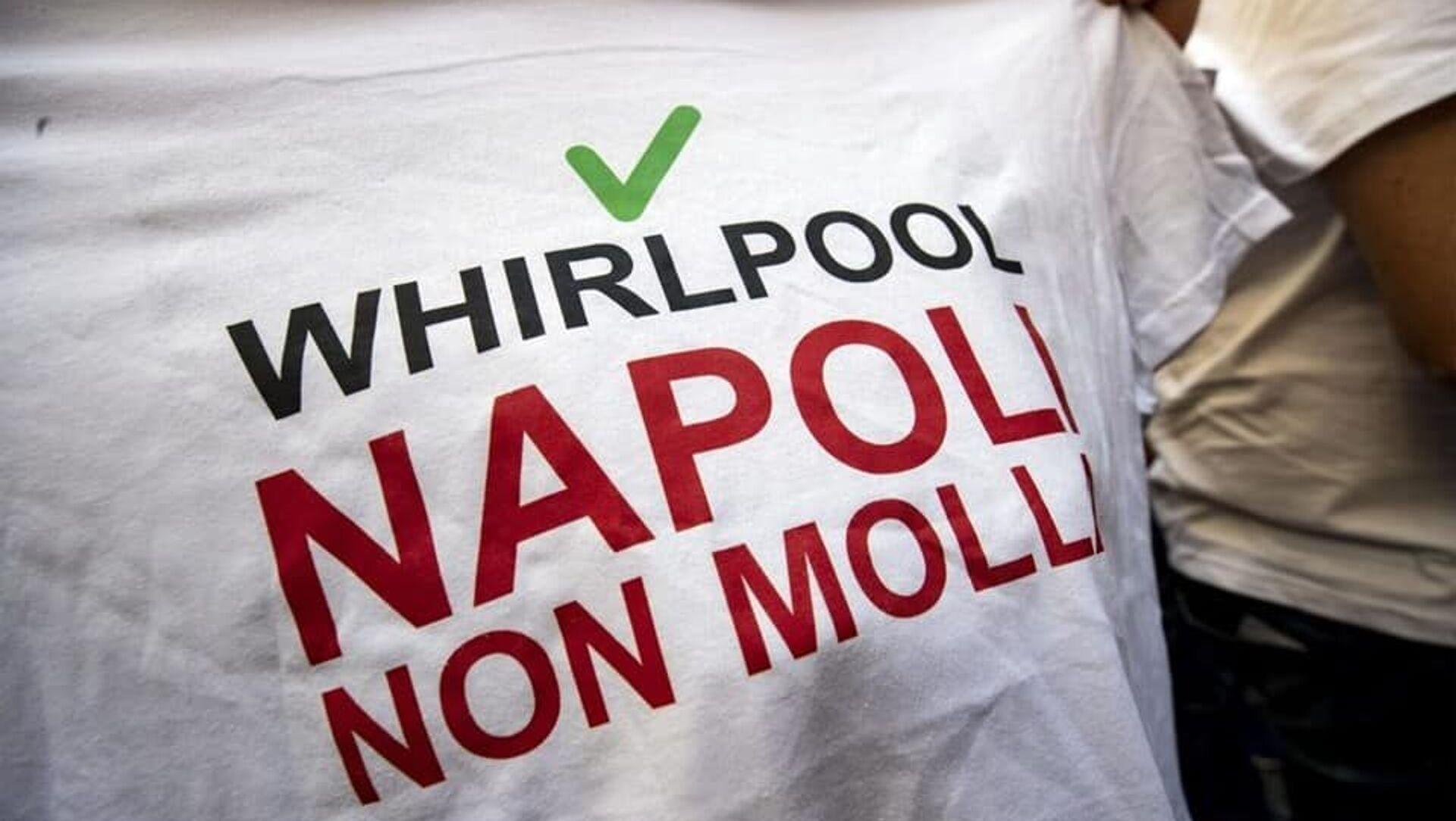 Vertenza Whirlpool, la protesta dei lavoratori - Sputnik Italia, 1920, 18.02.2021