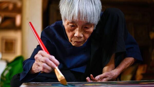 Artista Vietnamita Mong Bich Vietnam - Sputnik Italia