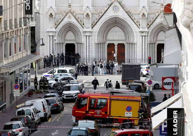 L'area dell'attentato di Nizza