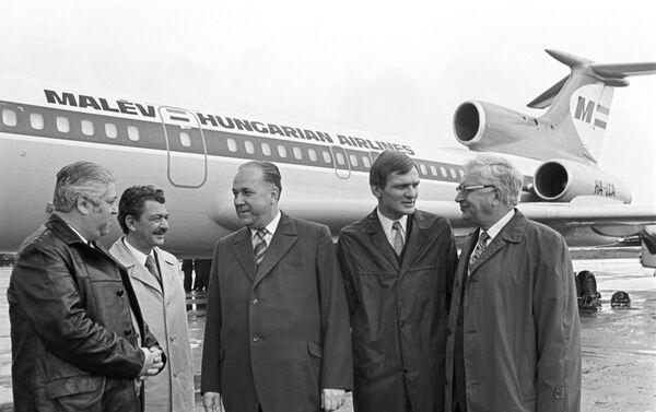 Un Tu-154  delle aerolinee ungheresi - 1973 - Sputnik Italia